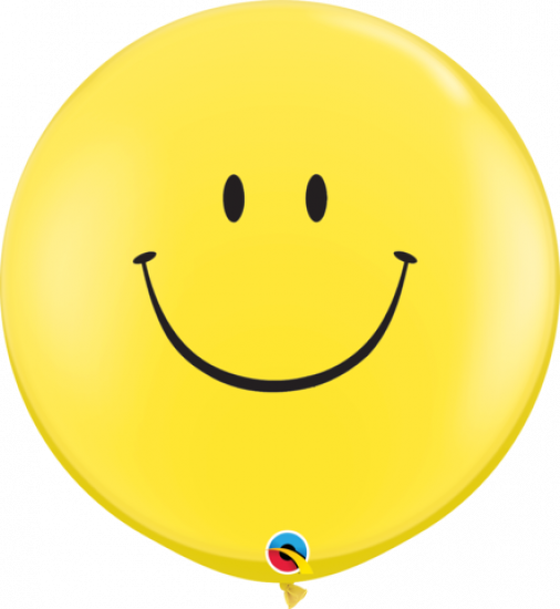 Jumbo Smile Face Round Balloon