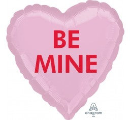 Foil 'Be Mine' Candy Heart Balloon