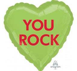 Foil 'YOU ROCK' Candy Heart Balloon