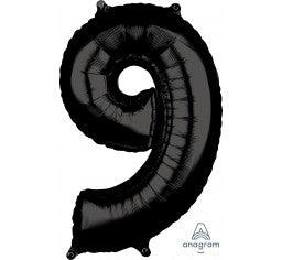 Black 66cm Number 9 Balloon