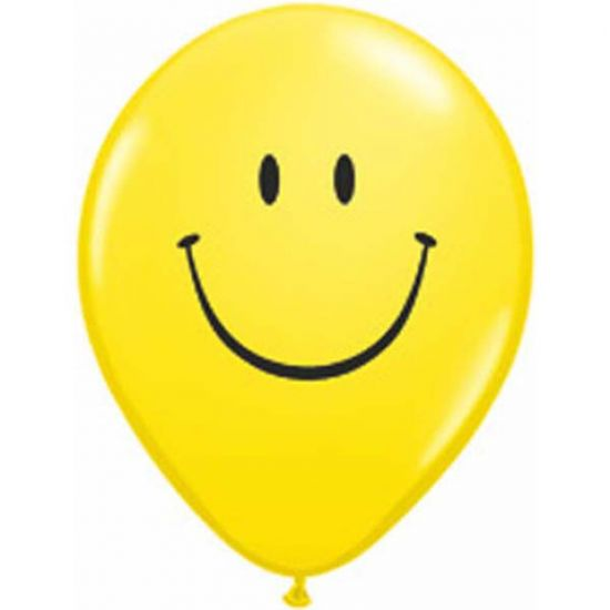 Yellow Smile Face 12cm Mini Balloon