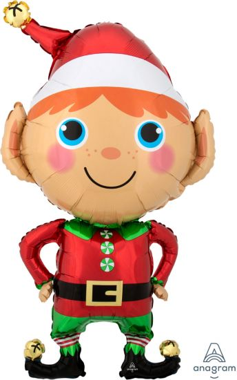 Happy Christmas Elf Foil Shape Balloon