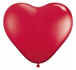 90cm Jumbo Heart Balloon - Ruby Red