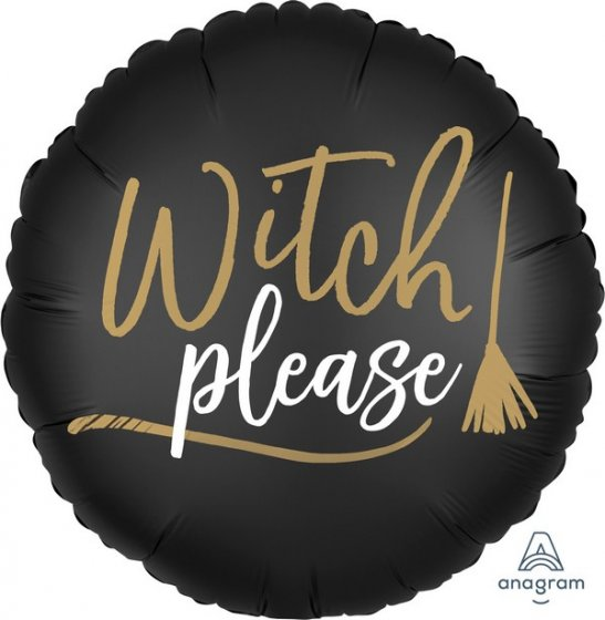 Witch Please | Cheers Witches 2 Sided Foil Balloon