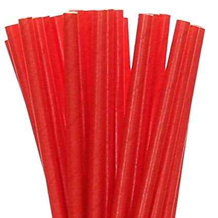 Paper Straws - Classic Red