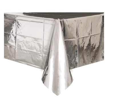 Rectangle Metallic Silver Tablecover
