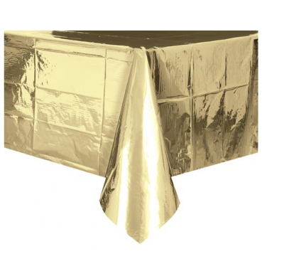 Rectangle Metallic Gold Tablecover
