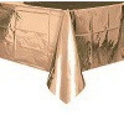 Rectangle Metallic Rose Gold Tablecover