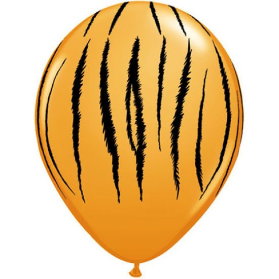 30cm Tiger Stripe Print Balloon