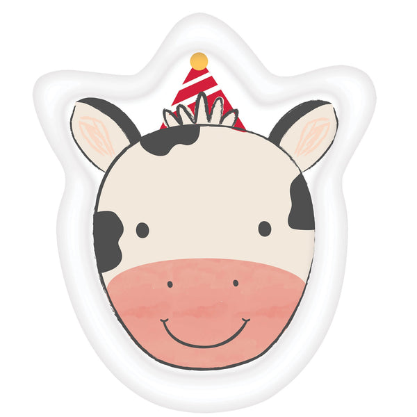 Barnyard Cow Shaped Paper Plates