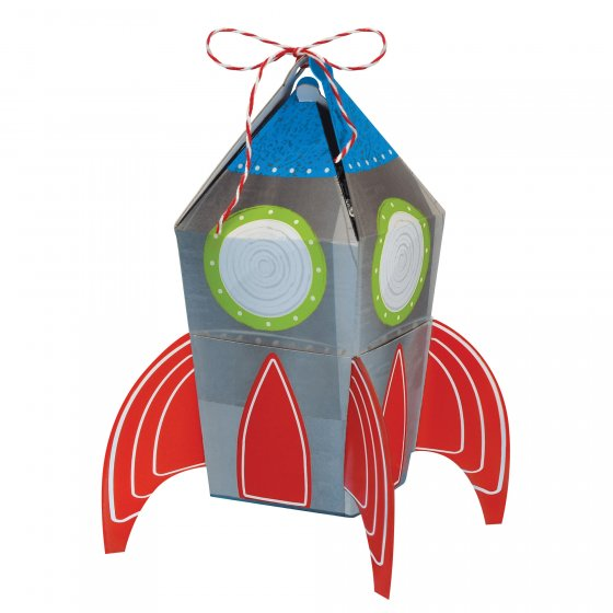 Blast Off Rocket Favor Treat Boxes - 8Pk