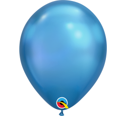 18cm Chrome Blue Balloon