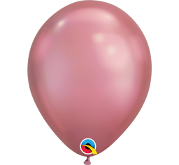 30cm Chrome Mauve Pink Balloon