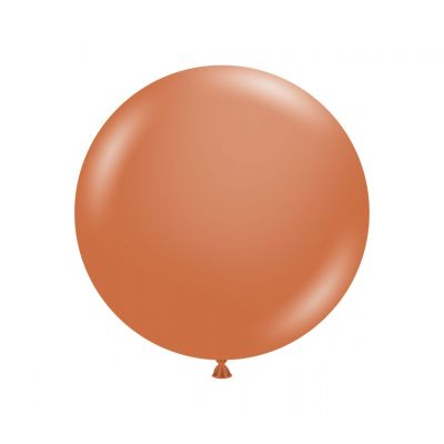 60cm Jumbo Round Balloon - Burnt Orange