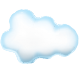 Jumbo Puffy Cloud Shape Balloon