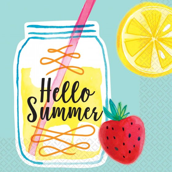 Hello Summer Lemonade Paper Napkins 16pk