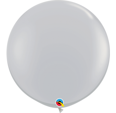 90cm Jumbo Round Balloon - Grey