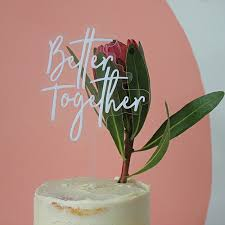 Better Together Cake Topper