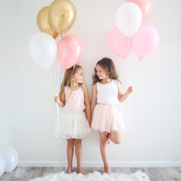 Balloon Bouquet 8Pk - Pink + Gold