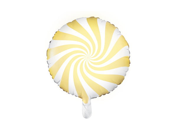 Candy Swirl Balloon - Yellow