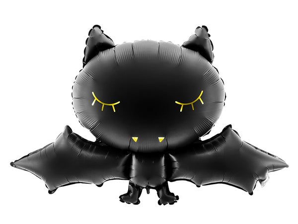 Foil Black Bat Balloon - BACK 7 OCT