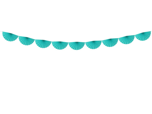Teal Tissue Fan Garland