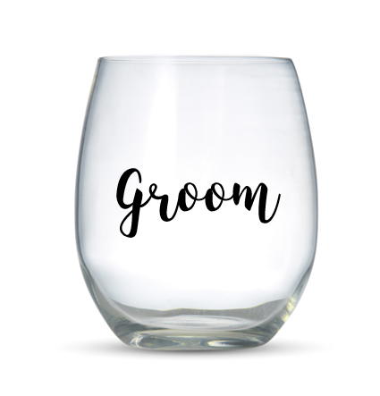GROOM -  Vinyl Wine Glass Stickers