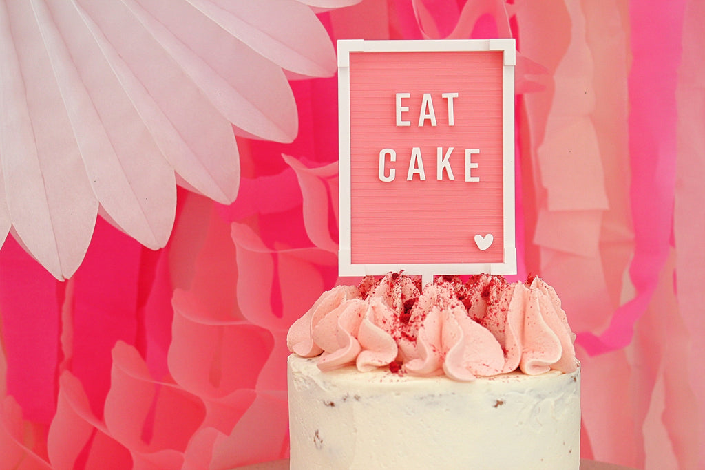 Letter Board Cake Topper - EAT CAKE
