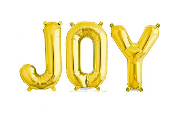 Foil 'JOY' Balloon - Gold