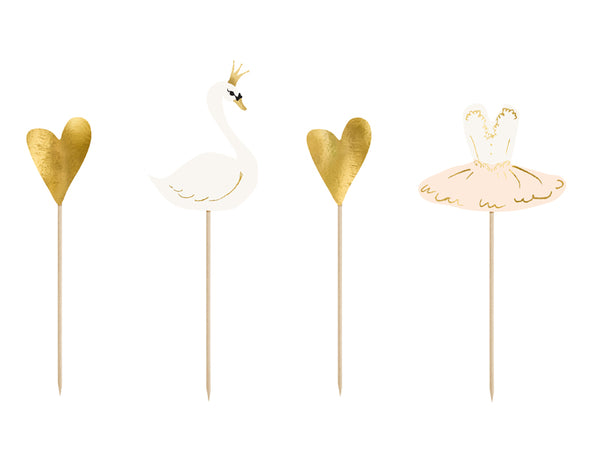 Lovely Swan Cake Topper Kit
