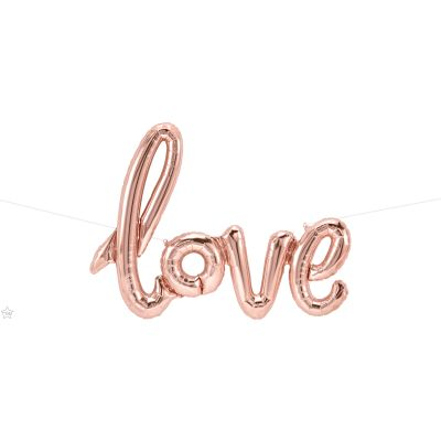 Foil Rose Gold Script 'love' Balloon
