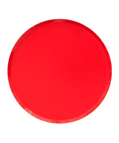 Oh Happy Day Large Plates - CHERRY RED