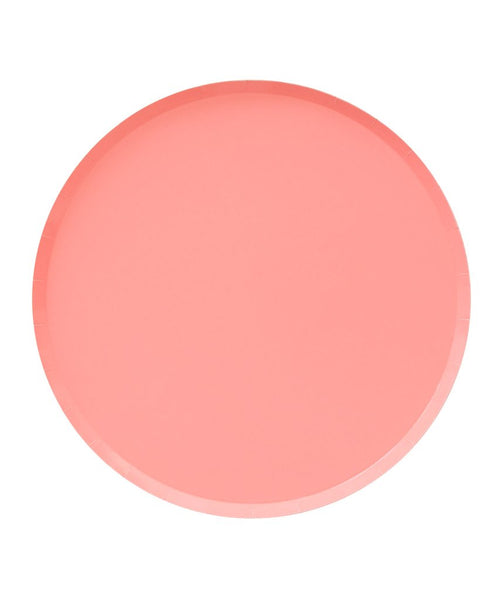 Oh Happy Day Large Plates - NEON CORAL