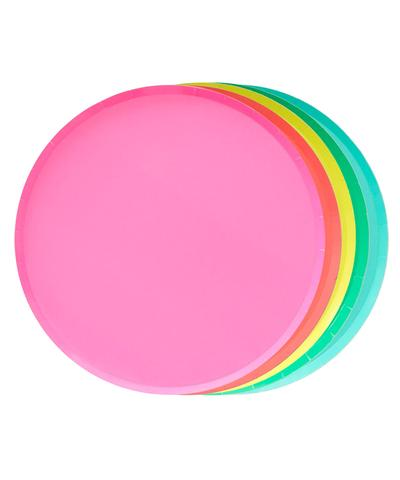 Oh Happy Day Large Plates - RAINBOW SET