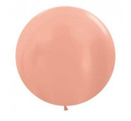60cm Jumbo Round Balloon - Rose Gold