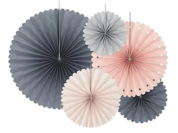 Elegant Bliss Paper Fan Set