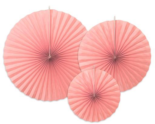 Blush Pink Paper Fan Set