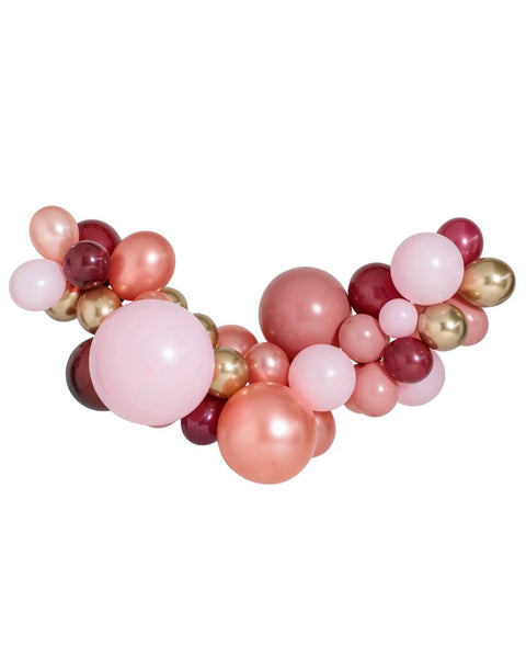 Large Rosewood Balloon Garland Kit