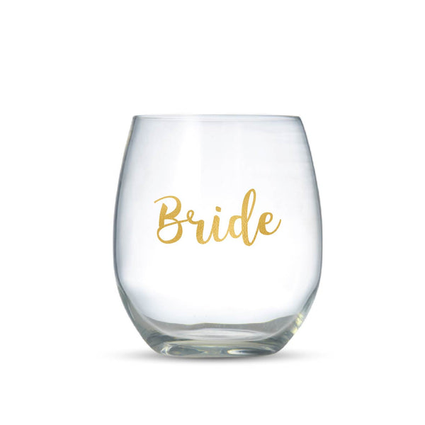 BRIDE -  Vinyl Wine Glass Stickers