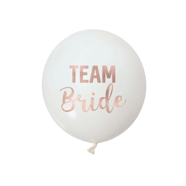 TEAM BRIDE -  Vinyl Balloon Stickers