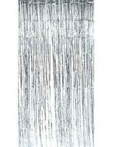 Silver Fringe Curtain Backdrop