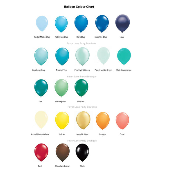 3Mtr Balloon Garland Kit - Custom Colours MINUS BALLOON PUMP