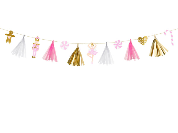 Pink Christmas Paper Garland Kit