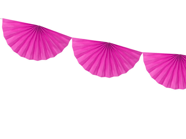 Dark Pink Tissue Fan Garland