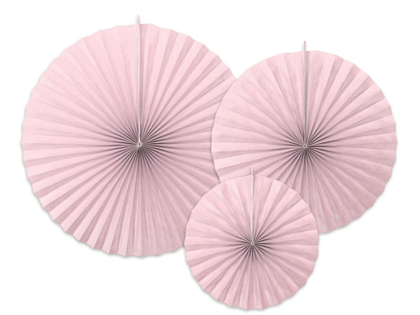 Dusty Rose Paper Fan Set