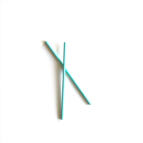 Pale Blue Paper Straws