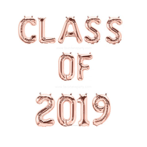 Foil 'CLASS OF 2019' Graduation Balloon Backdrop