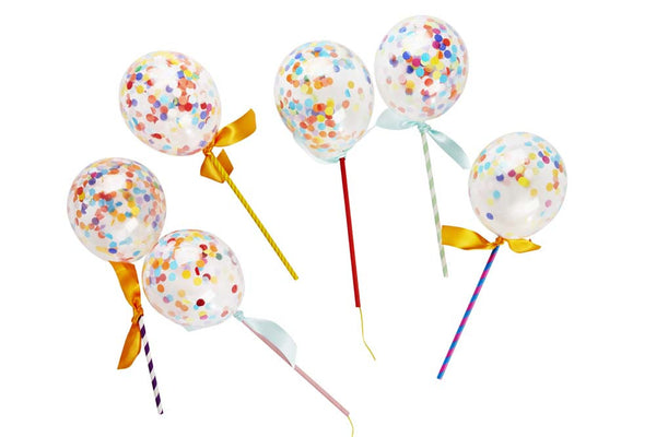 Confetti Balloon Pops Cake Topper