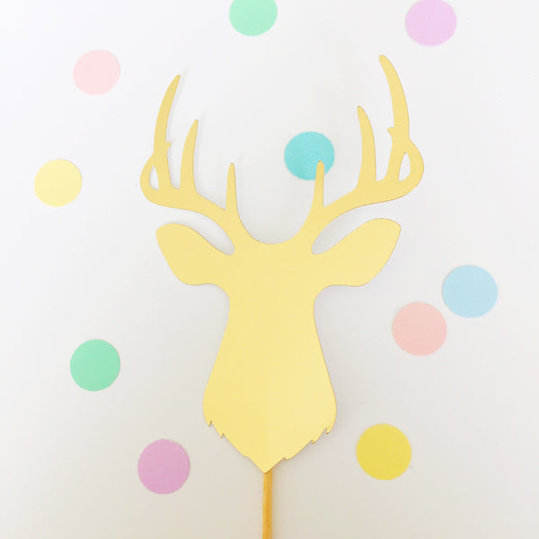 Gold Deer Cake Toppers