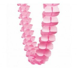 Classic Pink Honeycomb Garland